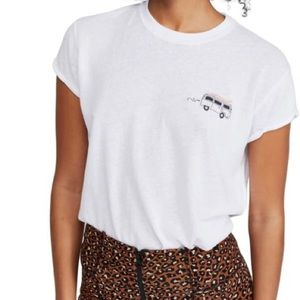 Free People Wipe Out Graphic Tee in Ivory
